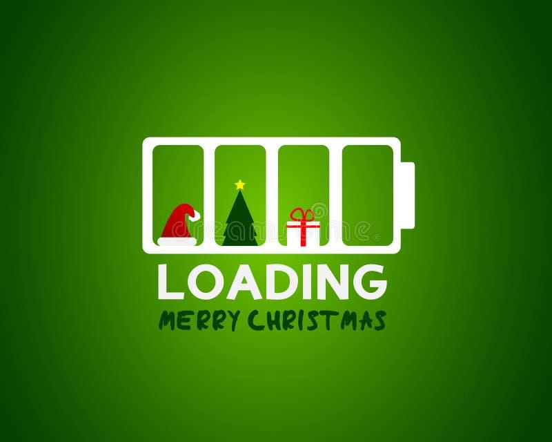 Concepto del cargamento de la venta del Web de la Feliz Navidad libre illustration