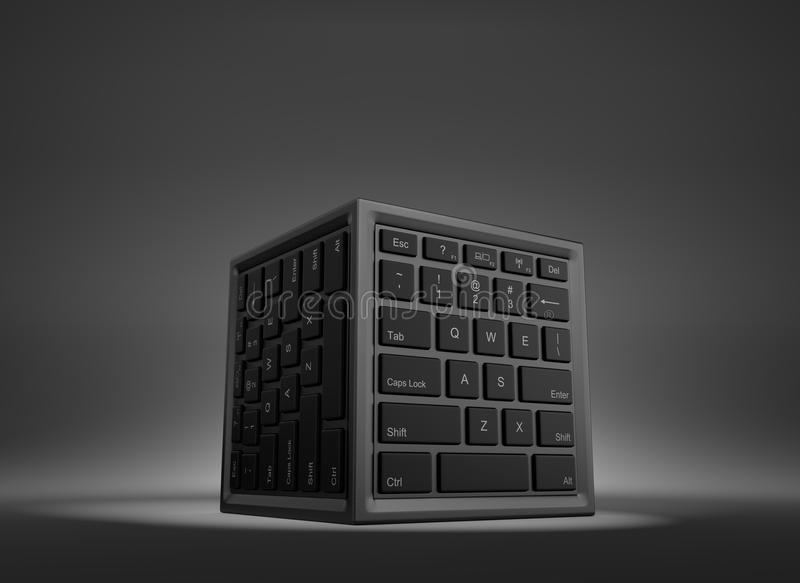 Concepto del centro de datos libre illustration