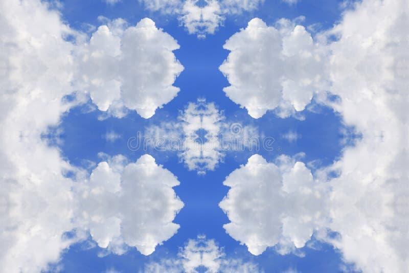 Concepto del cielo azul y de la nube, modelo inconsútil hermoso para el fondo imagenes de archivo