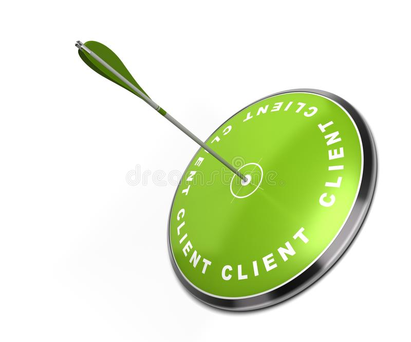 Concepto del cliente stock de ilustración