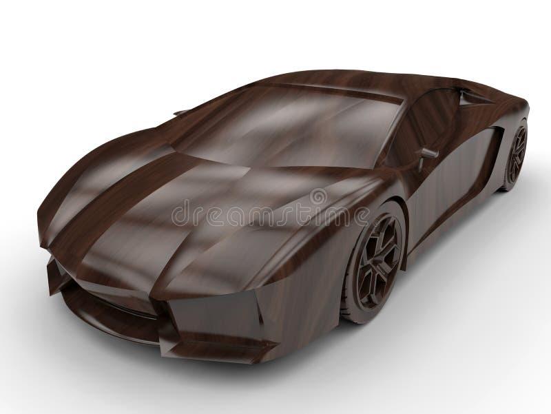 Concepto del coche de deportes stock de ilustración