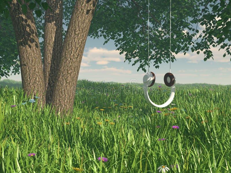 Concepto del columpio de los auriculares foto de archivo libre de regalías