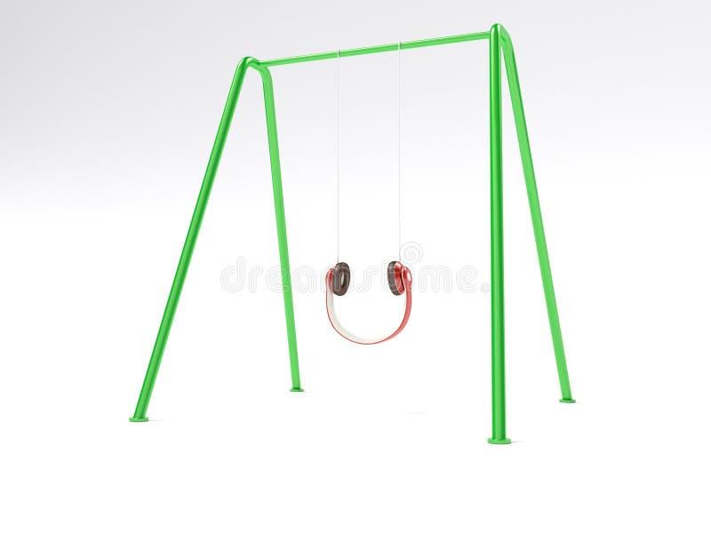 Concepto del columpio de los auriculares libre illustration