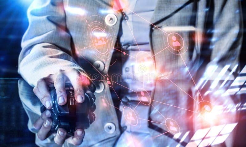 Concepto del comercio electrónico y del establecimiento de una red imagen de archivo