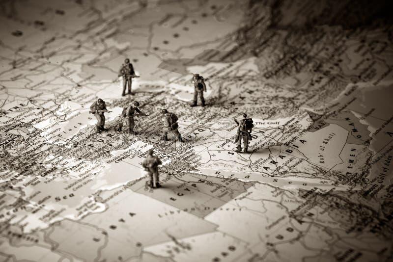 Concepto del conflicto de Oriente Medio fotos de archivo