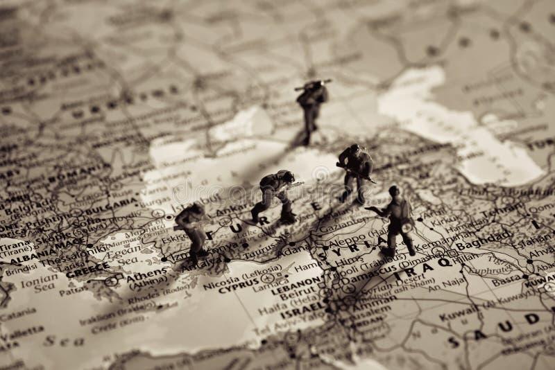 Concepto del conflicto de Oriente Medio fotos de archivo libres de regalías