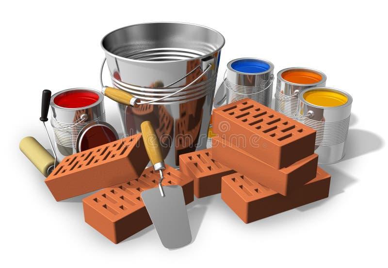 Concepto del construcción/casero de la renovación stock de ilustración