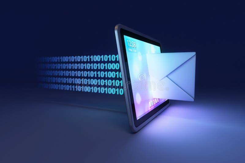 Concepto del correo entrante