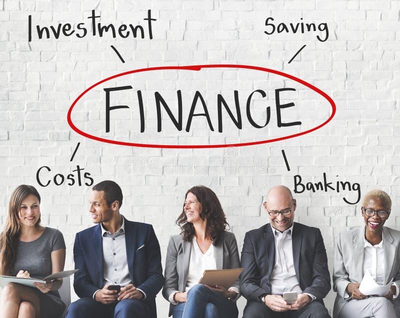 Concepto del coste de las actividades bancarias de inversión de las finanzas foto de archivo libre de regalías