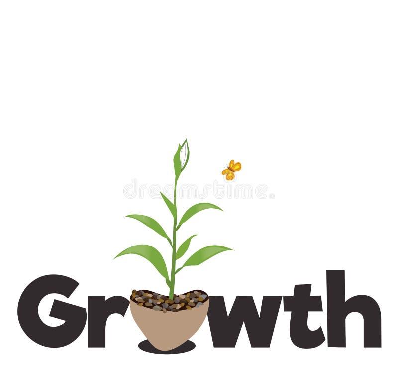 Concepto del crecimiento ilustración del vector