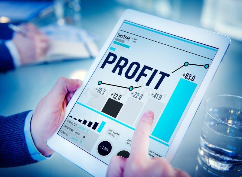 Concepto del crecimiento de la renta financiera de la ventaja del beneficio foto de archivo libre de regalías