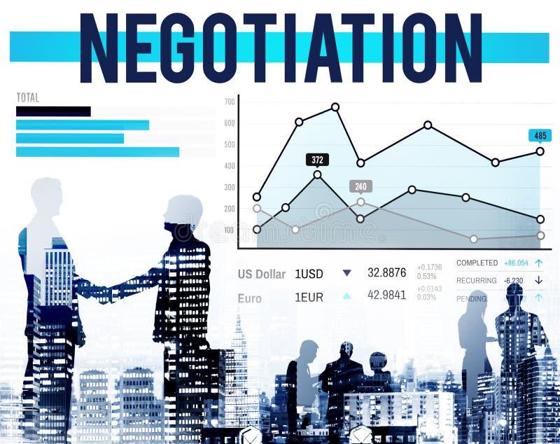 Concepto del crecimiento del contrato del compromiso de la ventaja de la negociación imágenes de archivo libres de regalías