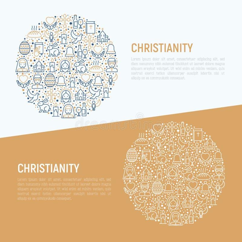 Concepto del cristianismo en círculo libre illustration