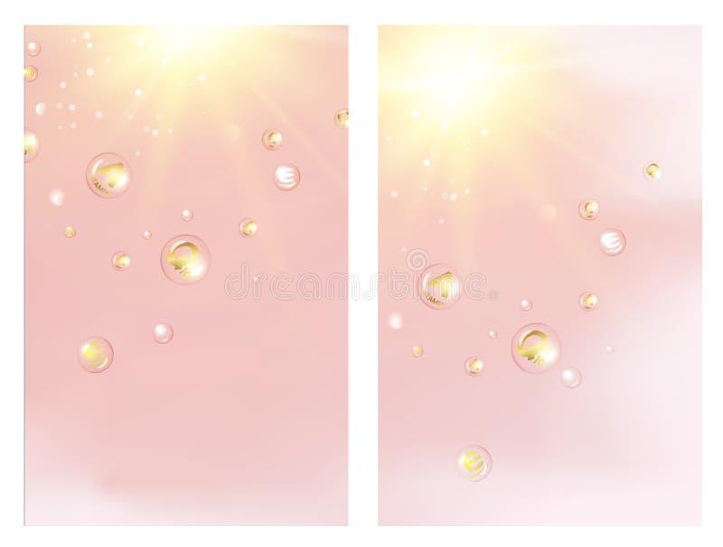 Concepto del cuidado de piel ilustración del vector