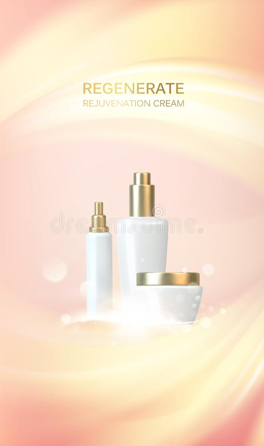 Concepto del cuidado de piel stock de ilustración