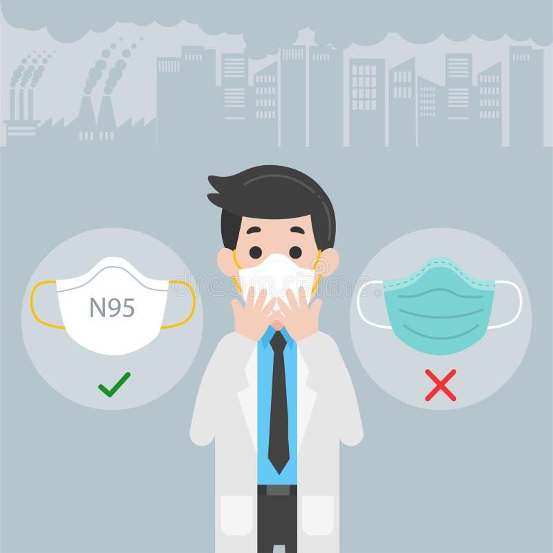 Concepto del cuidado del doctor Character Medical Health ilustración del vector