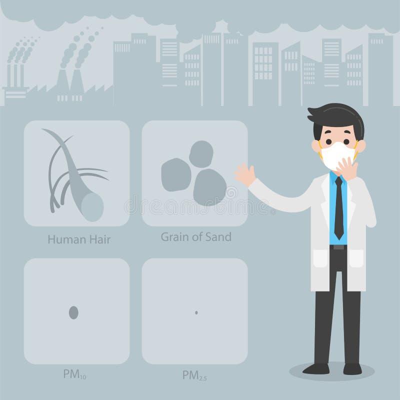 Concepto del cuidado del doctor Character Medical Health stock de ilustración