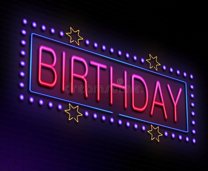 Concepto del cumpleaños. ilustración del vector