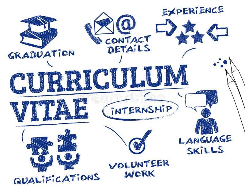Concepto del curriculum vitae stock de ilustración