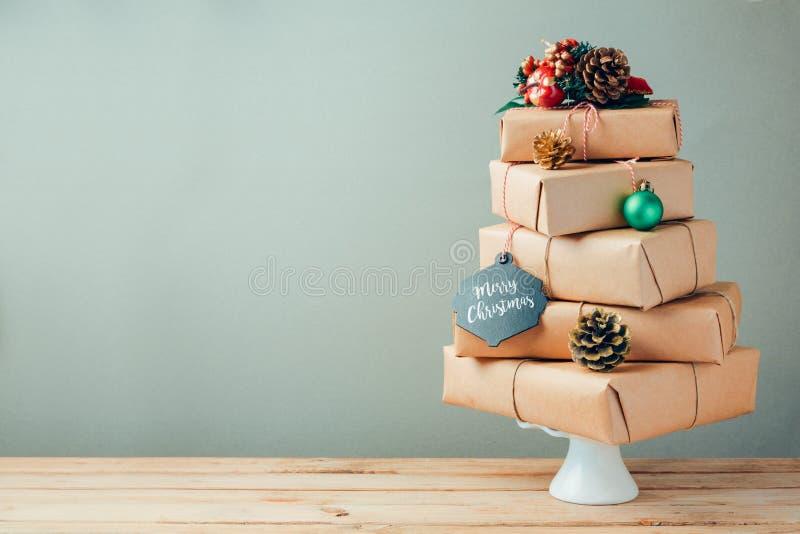 Concepto del día de fiesta de la Navidad imagen de archivo libre de regalías