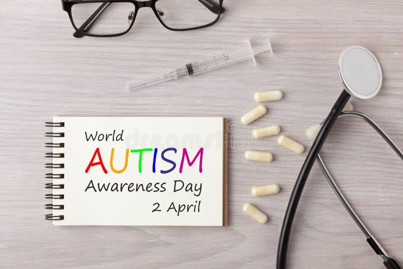 Concepto del día de la conciencia del autismo del mundo foto de archivo libre de regalías