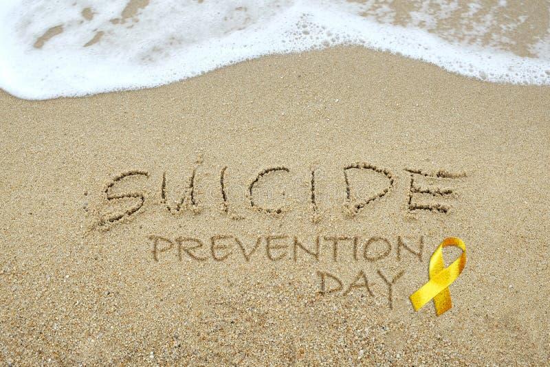 Concepto del día de la prevención del suicidio imagen de archivo libre de regalías