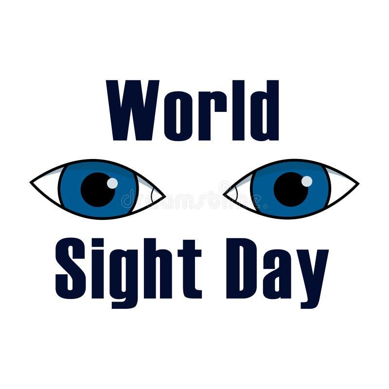 Concepto del día de la vista del mundo Illustrarion del vector con los ojos stock de ilustración