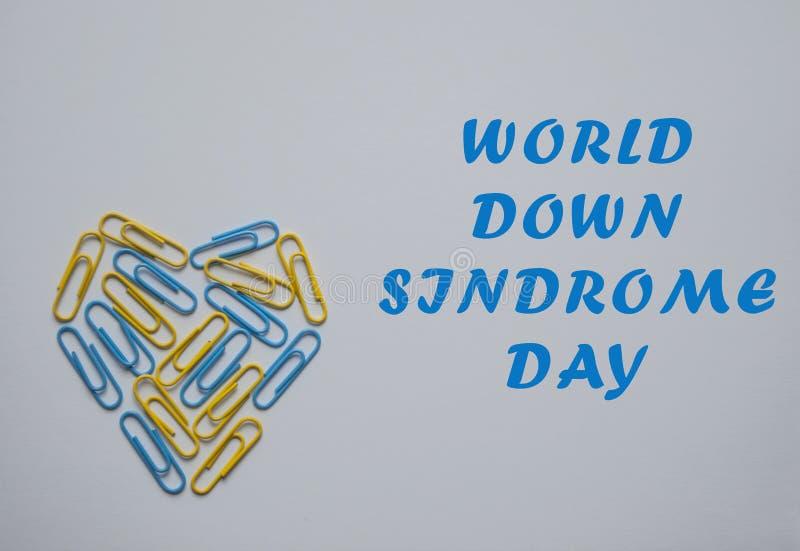 Concepto del día de Síndrome de Down del mundo fotos de archivo libres de regalías