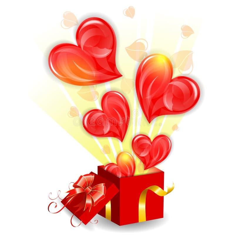 Concepto del día de tarjetas del día de San Valentín stock de ilustración
