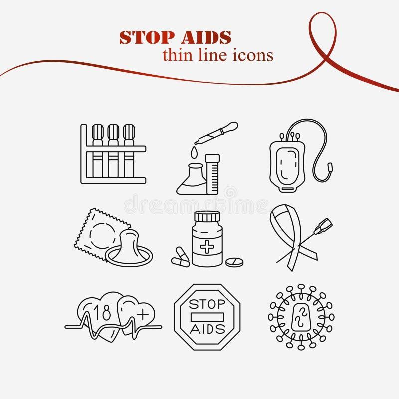 Concepto del Día Mundial del Sida ilustración del vector