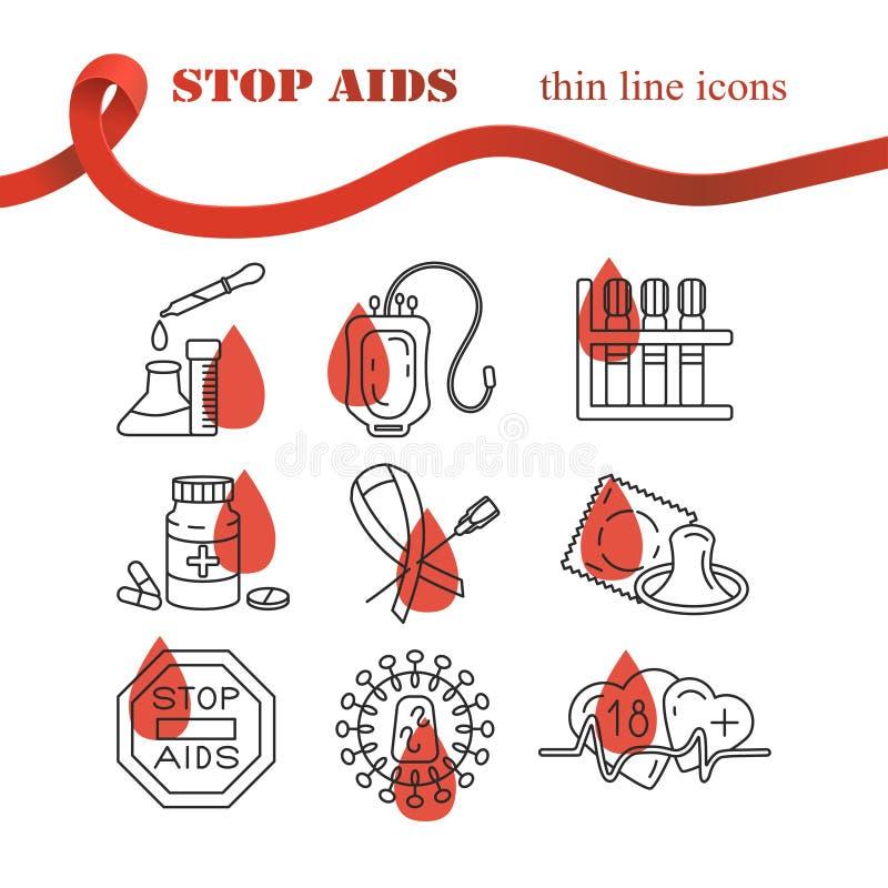 Concepto del Día Mundial del Sida stock de ilustración