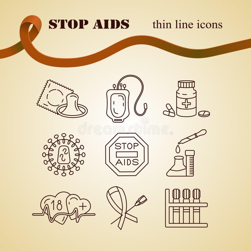 Concepto del Día Mundial del Sida libre illustration