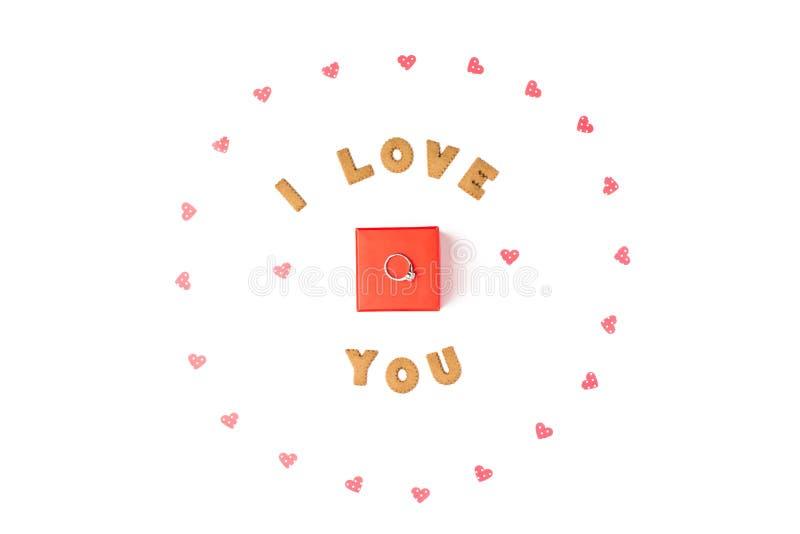 Concepto del día del ` s de la tarjeta del día de San Valentín Declaración del amor, marco hecho de los corazones de papel En el  libre illustration