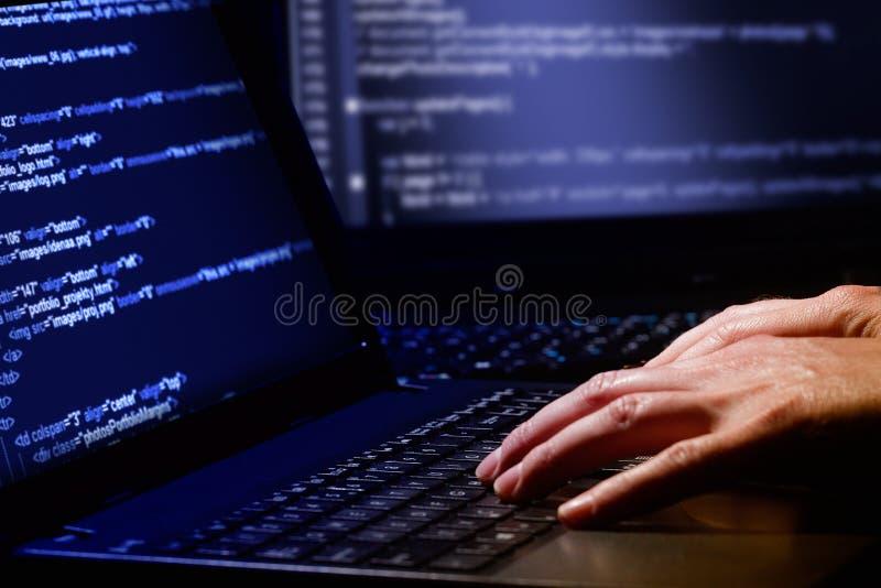 Concepto del delito informático foto de archivo libre de regalías