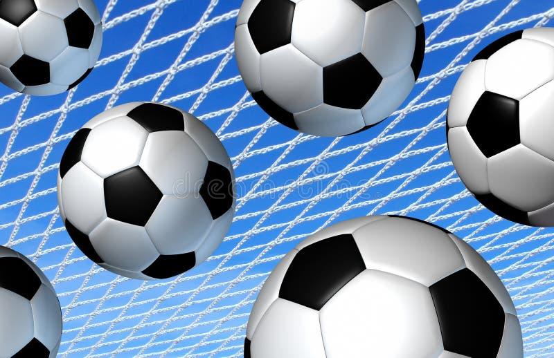 Concepto del deporte del fútbol stock de ilustración