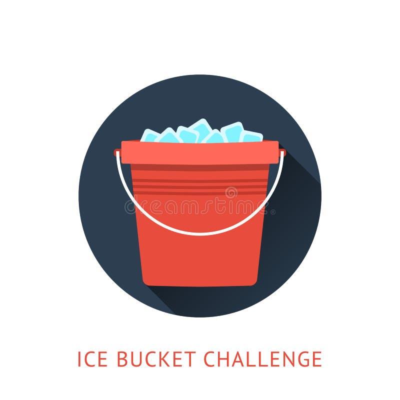 Concepto del desafío del cubo de hielo del ALS ilustración del vector