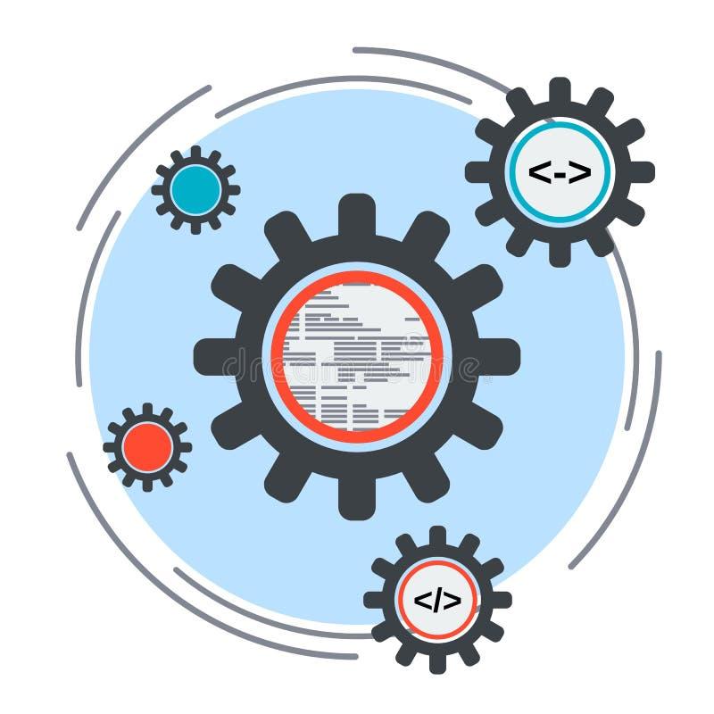 Concepto del desarrollo de aplicaciones ilustración del vector