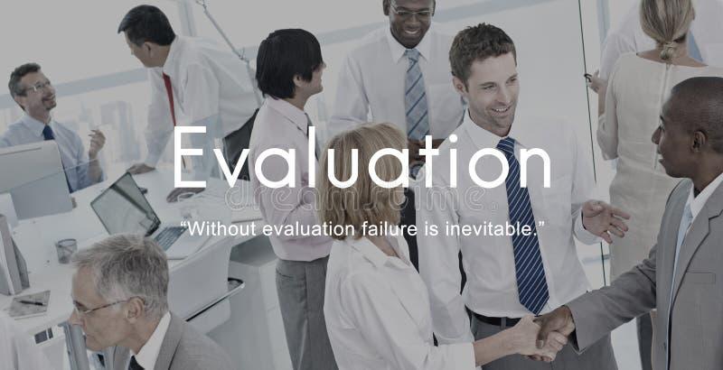 Concepto del desarrollo de negocios del funcionamiento de la evaluación de la evaluación fotos de archivo