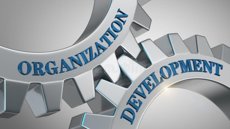 Concepto del desarrollo de organización stock de ilustración