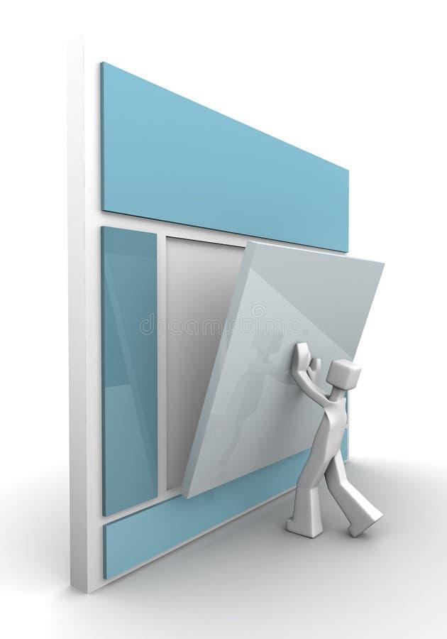 Concepto del desarrollo del Web site stock de ilustración