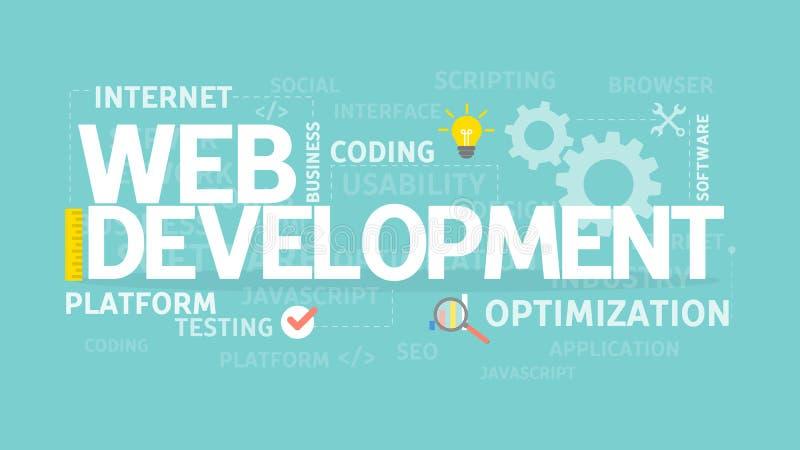 Concepto del desarrollo web stock de ilustración
