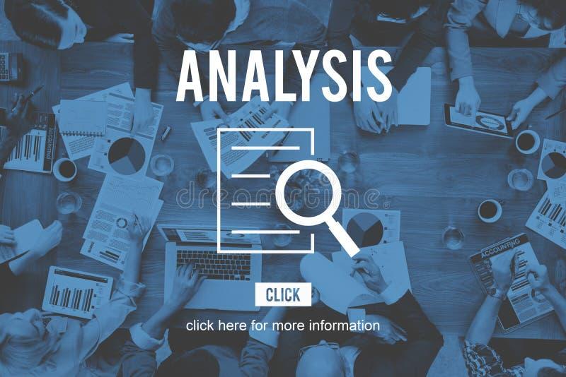 Concepto del descubrimiento de la investigación de la investigación del análisis fotos de archivo