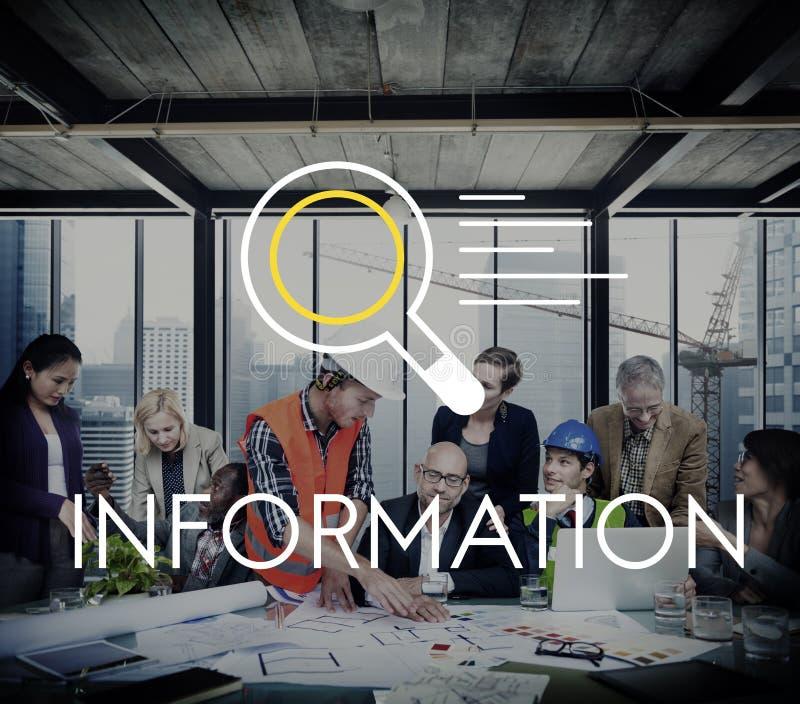 Concepto del descubrimiento del conocimiento de los resultados de investigación de la información foto de archivo libre de regalías