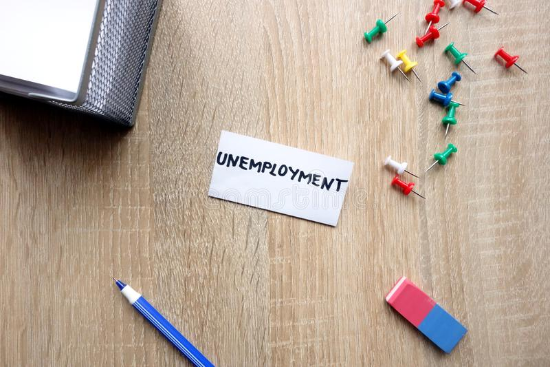 Concepto del desempleo imagen de archivo