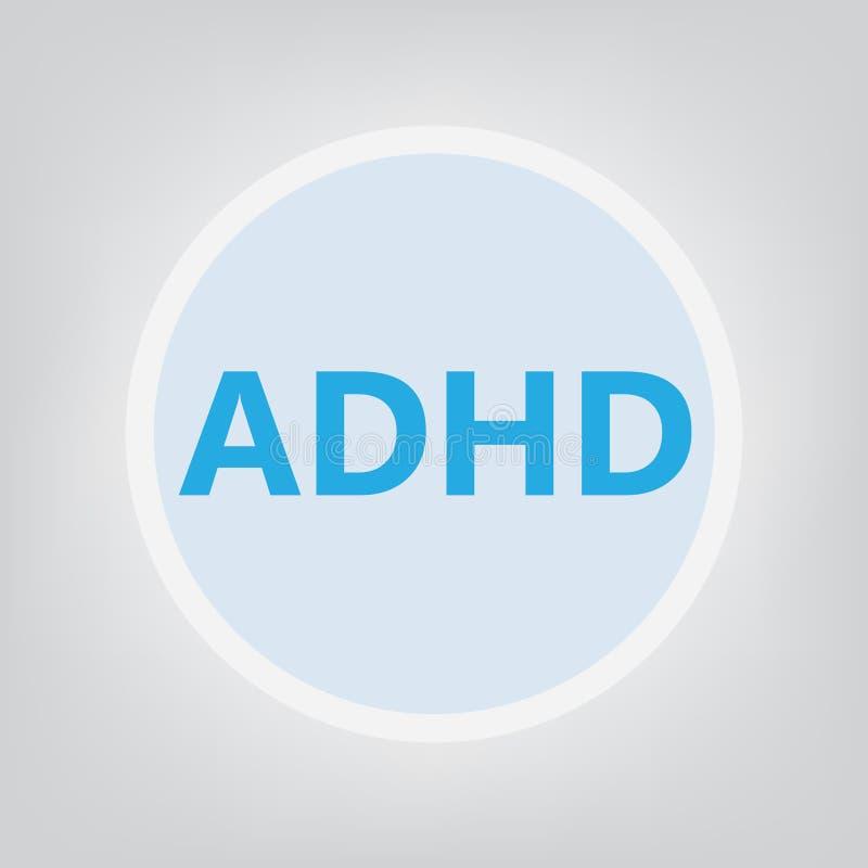 Concepto del desorden de la hiperactividad del déficit de atención de ADHD ilustración del vector