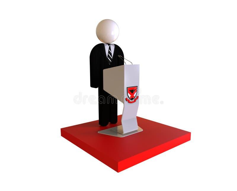 Concepto del discurso del líder ilustración del vector