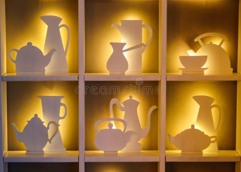 Concepto del diseño interior del café fotografía de archivo