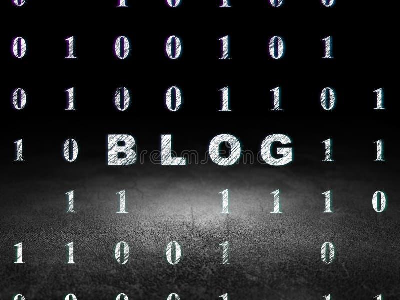 Concepto del diseño web: Blog en sitio oscuro del grunge foto de archivo