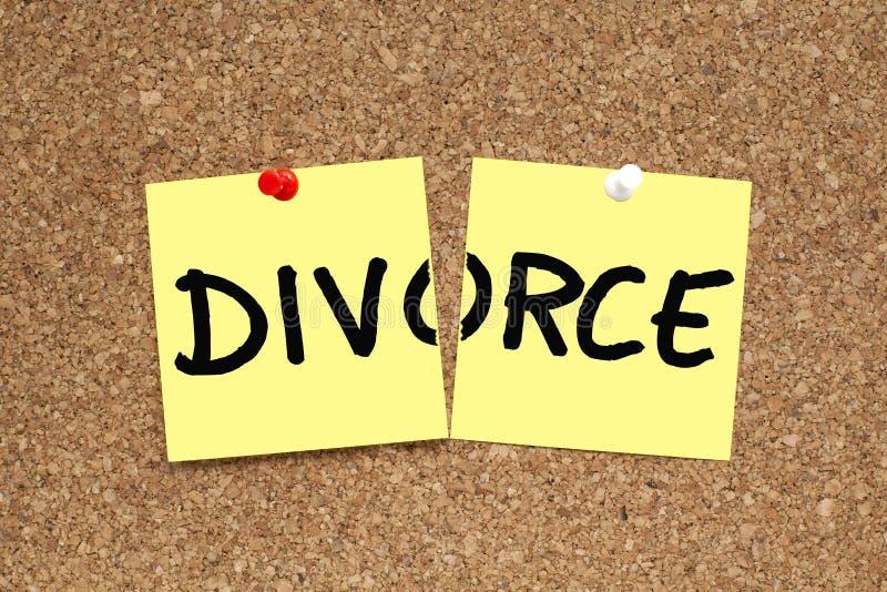 Concepto del divorcio imagenes de archivo