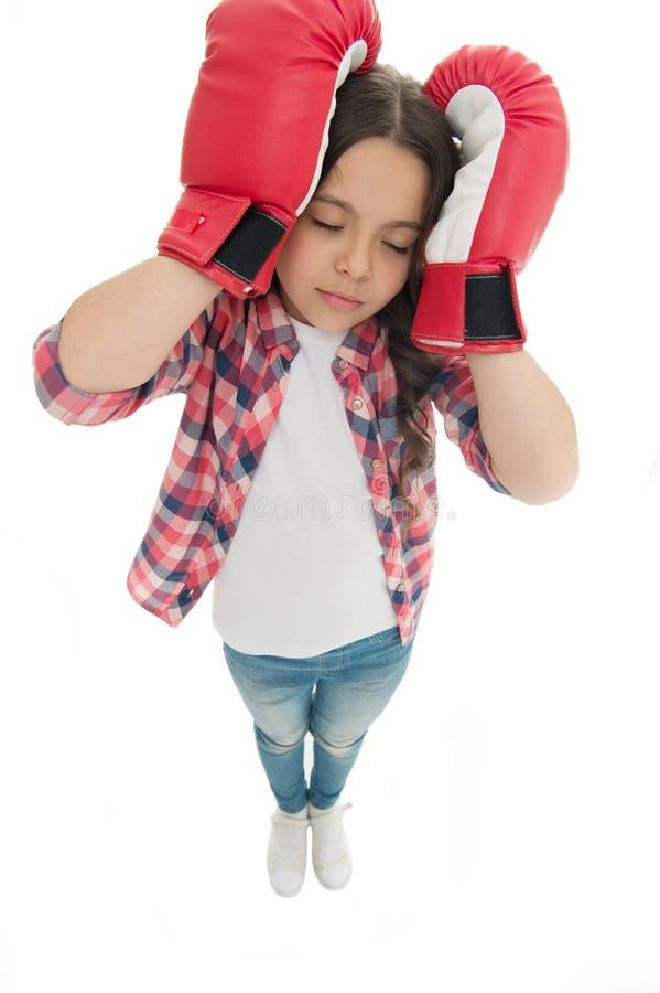 Concepto del dolor de cabeza Guarde la calma y líbrese del dolor de cabeza Dolor de cabeza del golpe Lucha lista de los guantes d imagen de archivo